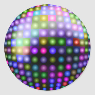 Disco Lights Classic Round Sticker