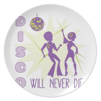 Disco Never Die Dinner Plate