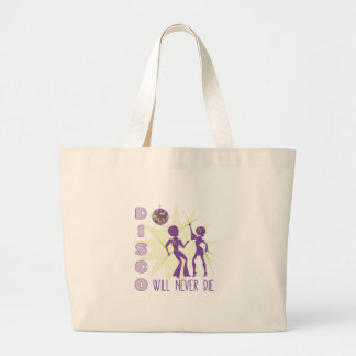 Disco Never Die Large Tote Bag