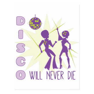 Disco Never Die Postcard