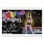 Disco night design greeting cards