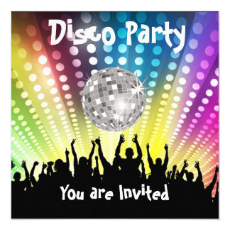 Disco Party invitation Any Celebration