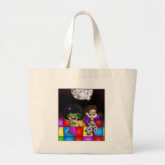 Disco party jumbo tote bag