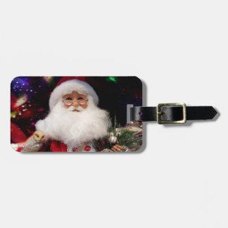 Disco Santa Luggage Tag