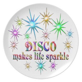 Disco Sparkles Plate