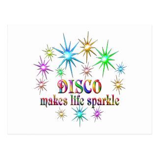 Disco Sparkles Postcard