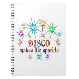 Disco Sparkles Spiral Notebook
