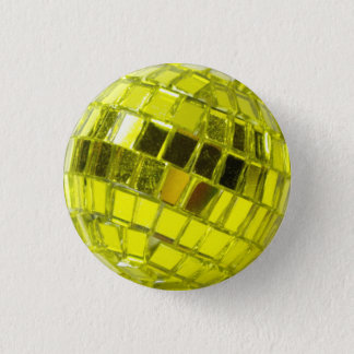 Disco swipes in - Minis Swell with Facets Green 1 Inch Round Button