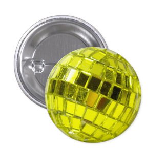 Disco swipes in - Minis Swell with Facets Green An 1 Inch Round Button
