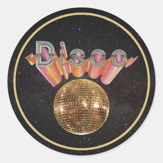 Disco the Night Away Classic Round Sticker