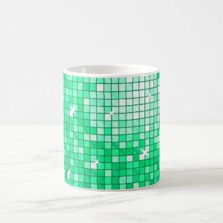 Disco Tiles Jade  mug