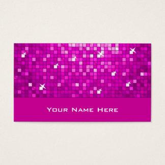 Disco Tiles Pink business card