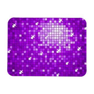 Disco Tiles Purple premium magnet