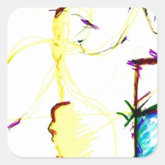 Disco W \ A Crazy Square Sticker