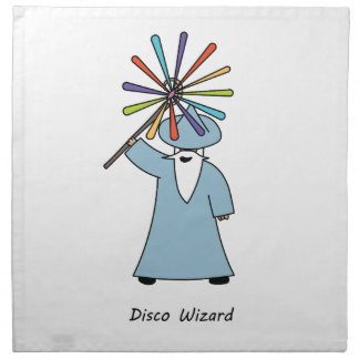 Disco Wizard t-shirt. Napkin