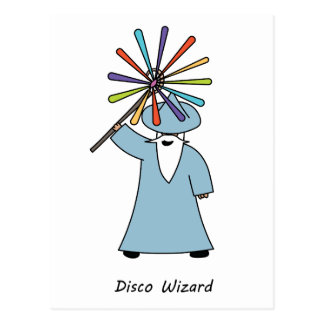Disco Wizard t-shirt. Postcard