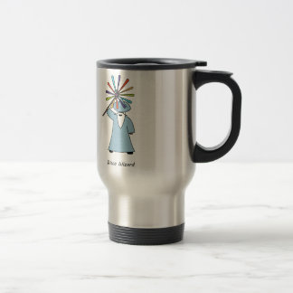 Disco Wizard t-shirt. Travel Mug