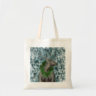 Disco Wreath Reindeer Tote Bag