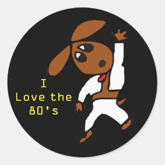 discodox, I Love the 80's Round Sticker