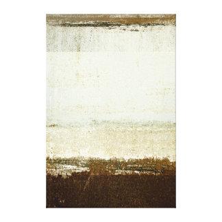 'Discoid' Neutral Abstract Art Canvas Print