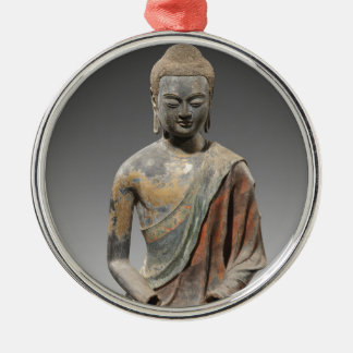 Discolored Buddha Sculpture - Tang dynasty (618) Metal Ornament