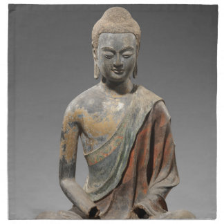 Discolored Buddha Sculpture - Tang dynasty (618) Napkin