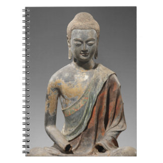 Discolored Buddha Sculpture - Tang dynasty (618) Notebook