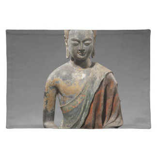 Discolored Buddha Sculpture - Tang dynasty (618) Placemat