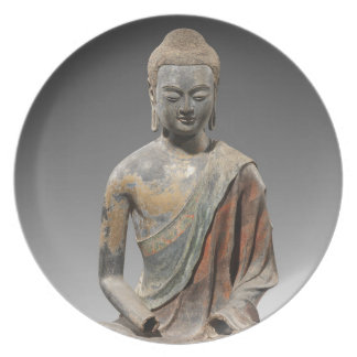Discolored Buddha Sculpture - Tang dynasty (618) Plate