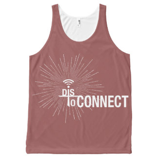 Disconnect to Connect #2 All-Over Print Tank Top