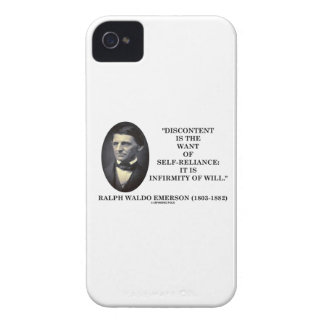 Discontent Is The Want Of Self-Reliance Emerson iPhone 4 Cases