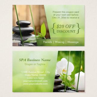 Discount Coupon Card SPA Still Life Massage Salon