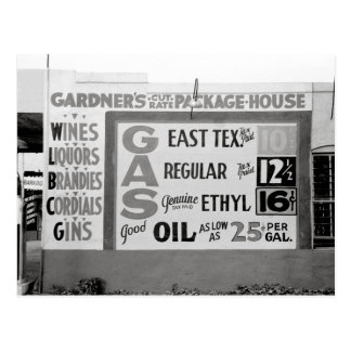 Discount Liquor & Gasoline, 1939 Postcard