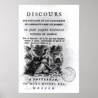 'Discours l'Origine et les Fondements Poster
