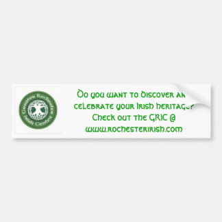 Discover and Celebrate GRIC Bumper Sticker