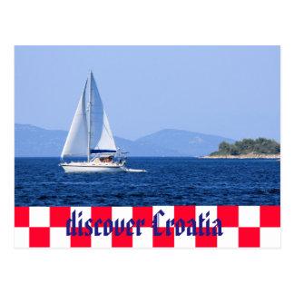 Discover Croatia Postcard