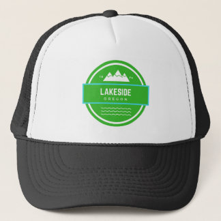 Discover Lakeside Oregon BW Trucker Hat