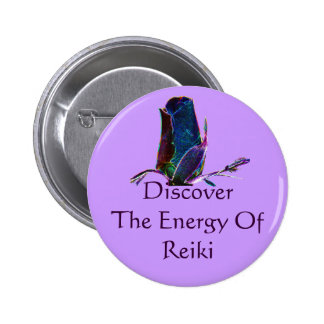 Discover The Energy Of Reiki Button Pin