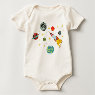 Discover The Universe Retro Baby Bodysuit