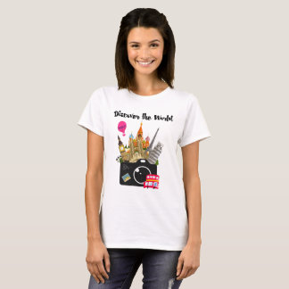 Discover The World European Landmarks Travel T-Shirt