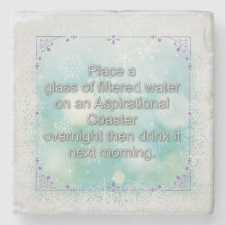Discovering the Power of Water To Remember Stone Beverage Coaster