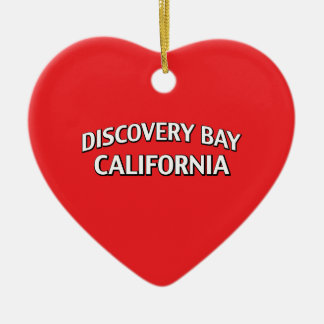 Discovery Bay California Ceramic Heart Ornament