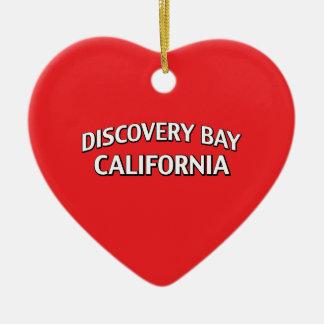 Discovery Bay California Ceramic Heart Ornament