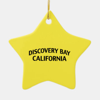 Discovery Bay California Ceramic Star Ornament