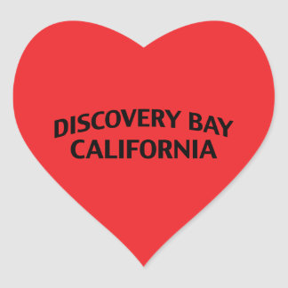 Discovery Bay California Heart Sticker