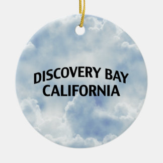 Discovery Bay California Round Ceramic Ornament