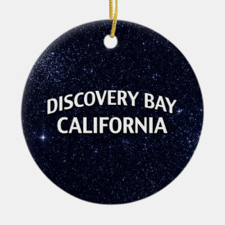 Discovery Bay California Round Ceramic Ornament