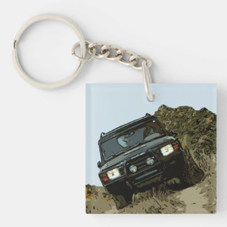 DISCOVERY - DISCO WITH NATURE Double-Sided SQUARE ACRYLIC KEYCHAIN