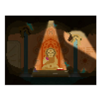 Discovery in the Cave Pixel Art Postcard