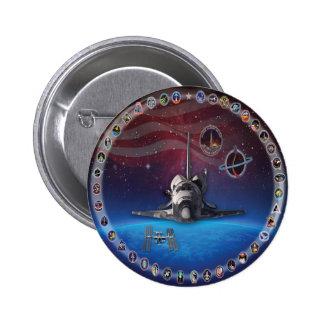 Discovery Tribute OV 103 2 Inch Round Button
